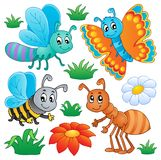 Cute bugs collection 2. Vector illustration Royalty Free Stock Photography