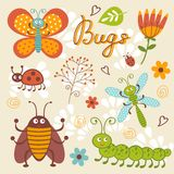 Cute Bugs Collection Royalty Free Stock Photography