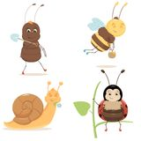 Cute Bugs collection Stock Image