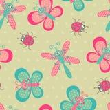 Cute bugs pattern. A cute bugs seamless pattern Stock Image