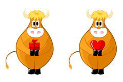 Cute bull Stock Photos