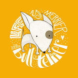 Cute Bull Terrier puppy design Royalty Free Stock Photography