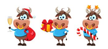 Free Cute Bull, The Symbol Of Chinese New Year 2021 Stock Photography - 196418202