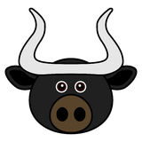 Cute Bull Vector. Cute animal faces in  (One of 25 of them Royalty Free Stock Images