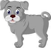 Cute  bulldog cartoon Stock Photos