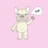 Cute bulldog in cartoon style Royalty Free Stock Photos