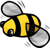Cute Bumblebee. With fast moving wings isolated on a white background Stock Images