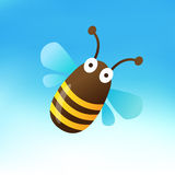 Cute Bumblebee Mascot Royalty Free Stock Photography