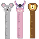 Cute bumper children meter wall. Royalty Free Stock Photo
