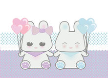 Cute bunnies Royalty Free Stock Photos