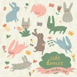 Cute bunnies royalty free illustration