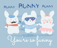 Cute bunnies Royalty Free Stock Photography