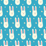 Cute bunnies. Seamless pattern. Vector illustration Stock Photography