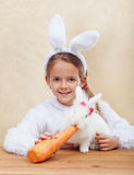Cute bunnies together Royalty Free Stock Photography