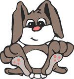 Cute Bunny. Little bunny sitting back and relaxing Royalty Free Stock Image