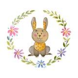 Cute bunny Animal for kindergarten, nursery, children clothing, baby pattern Royalty Free Stock Photos