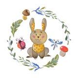 Cute bunny Animal for kindergarten, nursery, children clothing, baby pattern Stock Photography