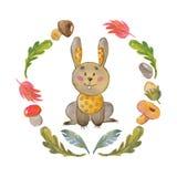 Cute bunny Animal for kindergarten, nursery, children clothing, baby pattern Stock Photo
