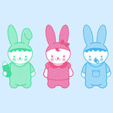 Cute bunny babies Royalty Free Stock Photos