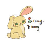 Cute bunny for baby shower or easter card. Stock Images