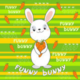 Cute bunny on the colorful background. Stock Photos