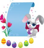 Cute bunny with decorative egg Stock Photo