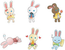 Cute bunny doll is character Royalty Free Stock Images
