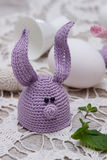 Cute bunny for Easter eggs Royalty Free Stock Photos