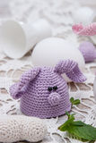 Cute bunny for Easter eggs Stock Photos
