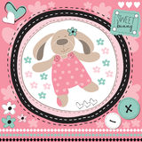 Cute bunny with flower  illustration Stock Image