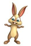 Cute Bunny funny cartoon character Stock Photos