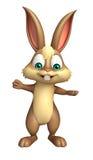 Cute Bunny funny cartoon character Stock Image