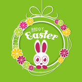 Cute bunny for Happy Easter celebration. Stock Photos