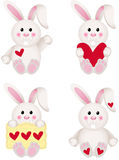 Cute Bunny With Heart Stock Image