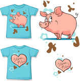 Cute bunny with heart shirt Stock Photo
