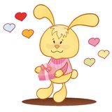 Cute bunny with hearts. Stock Photography