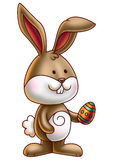 Cute Bunny Holding an Easter Egg 3 Stock Photography