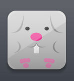 Cute bunny icon Royalty Free Stock Images