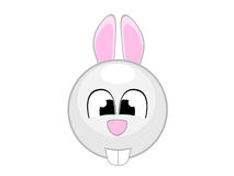 Cute bunny illustration comic Stock Image