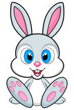 Cute bunny illustration on white background. PNG available stock illustration