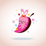 Cute bunny in love Royalty Free Stock Image