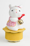 Cute Bunny Music Box Royalty Free Stock Photography