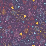 Cute bunny rabbit seamless pattern vector background. Creative nursery background. Perfect for kids design, fabric royalty free illustration
