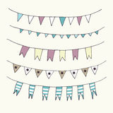 Cute bunting and garland pattern. Cute bunting and garland pattern seamless in Stock Image