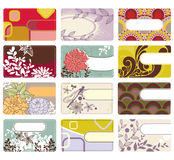 Cute business card collection Stock Photography