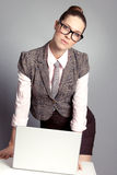Cute business lady Stock Image