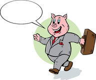 Cute Business Pig Royalty Free Stock Photo