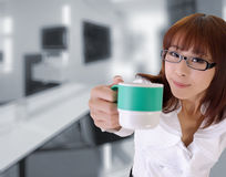 Cute business woman Stock Photography