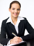 Cute Business Woman Royalty Free Stock Photos