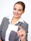 Cute Business Woman Stock Image